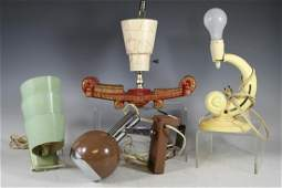 Four Mid Century Modern Light Fixtures
