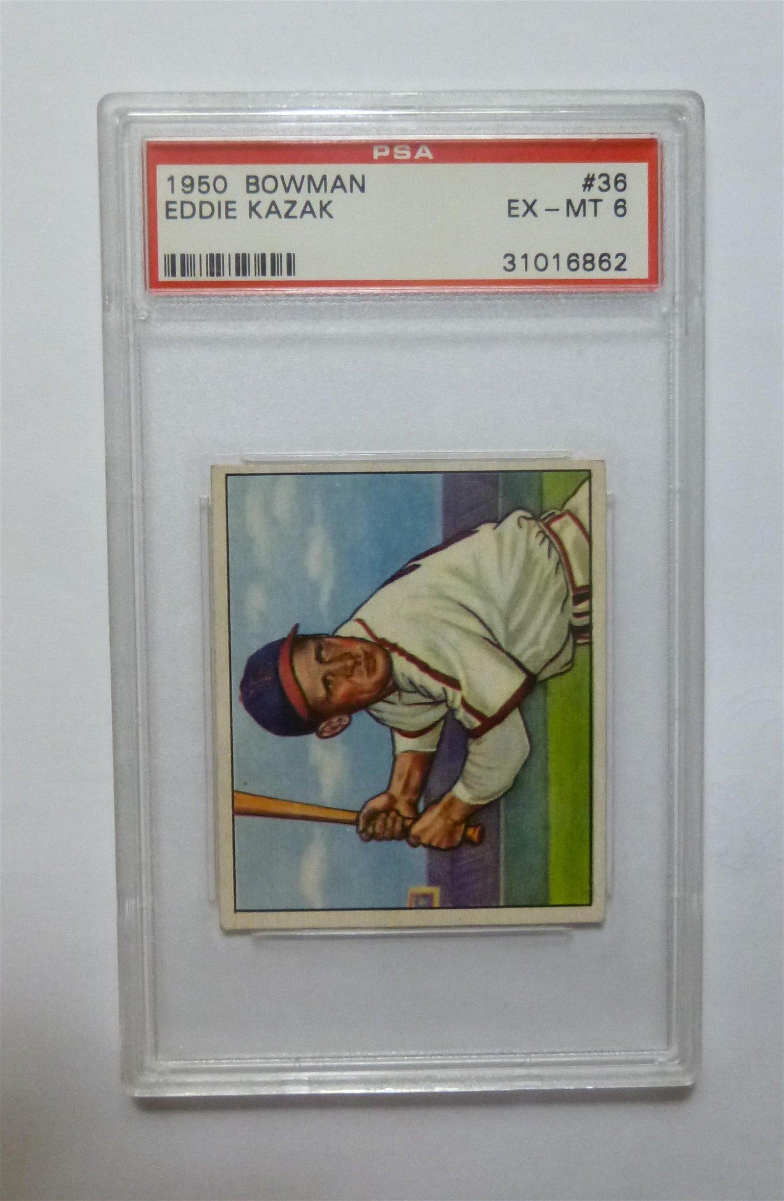 1950 Bowman #36 Eddie Kazak PSA 6