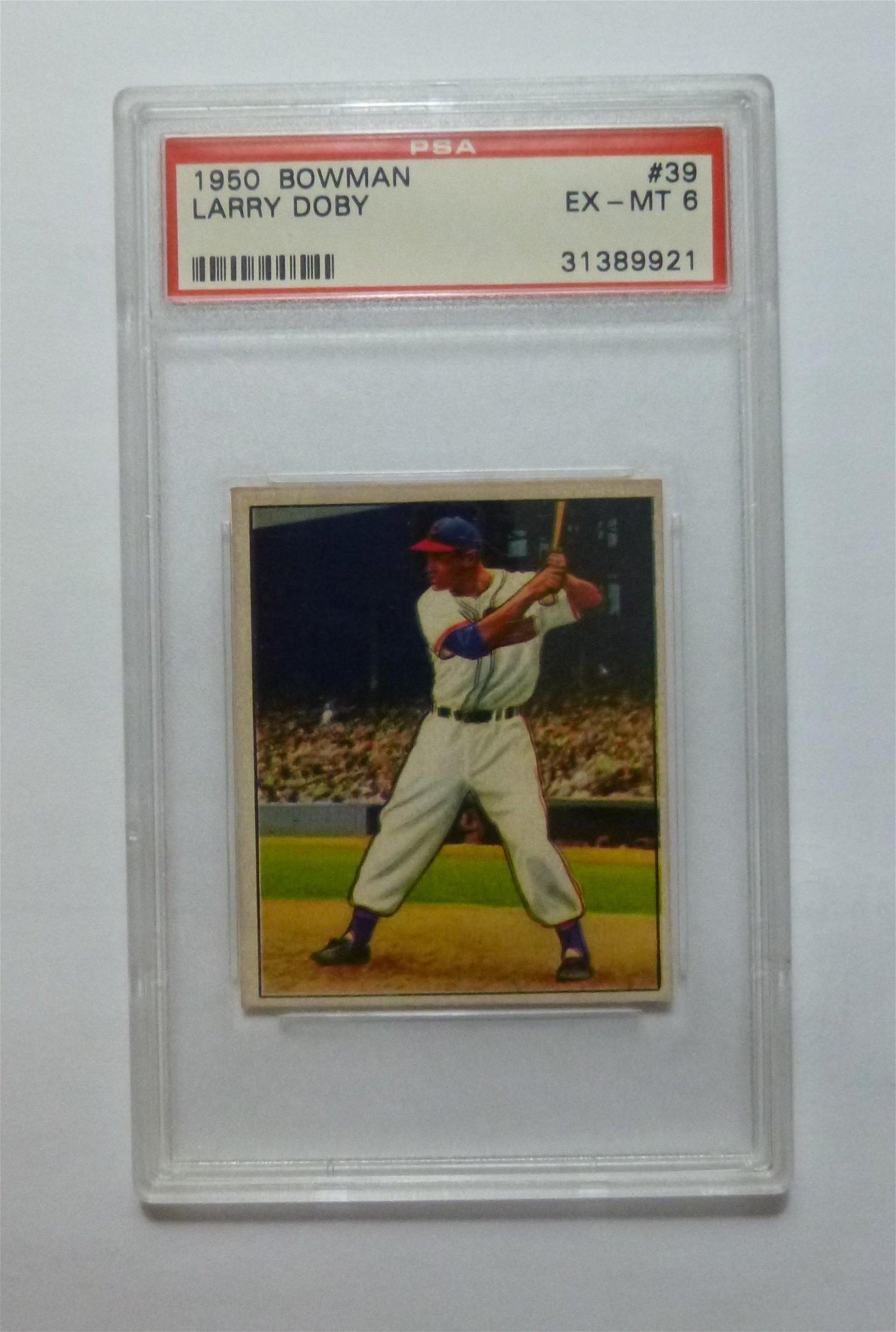 1950 Bowman #39 Larry Doby PSA 6