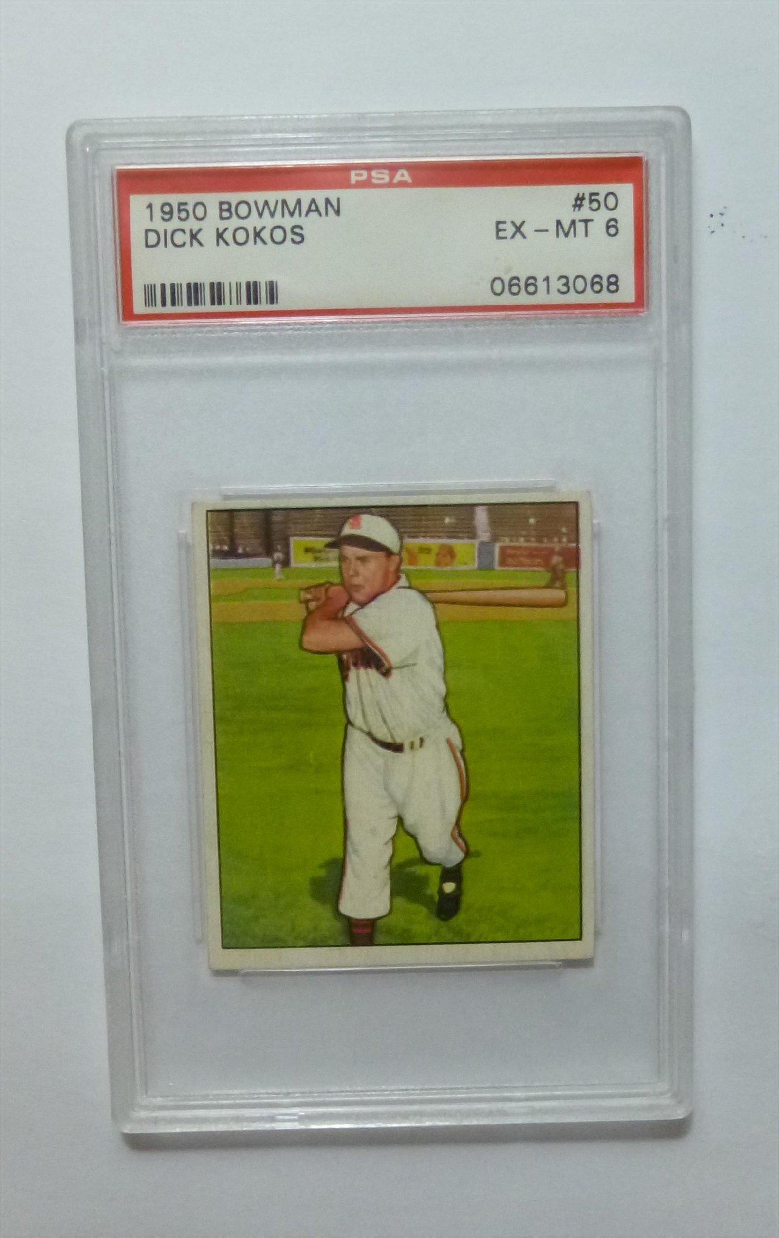 1950 Bowman #50 Dick Kokos PSA 6