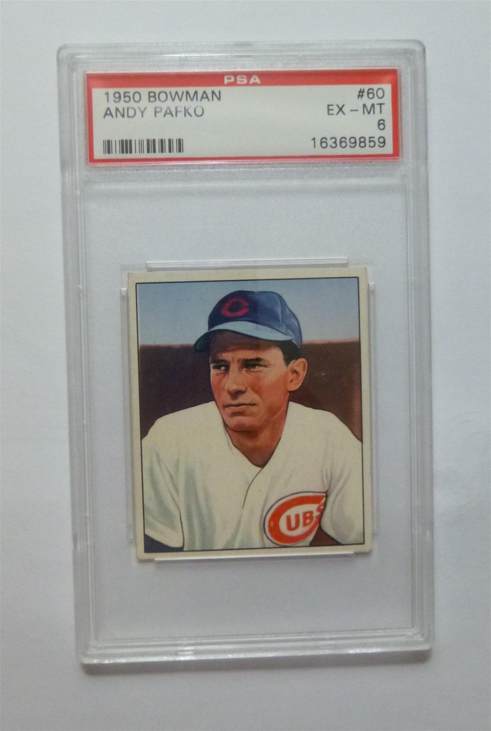 1950 Bowman #60 Andy Pafko PSA 6