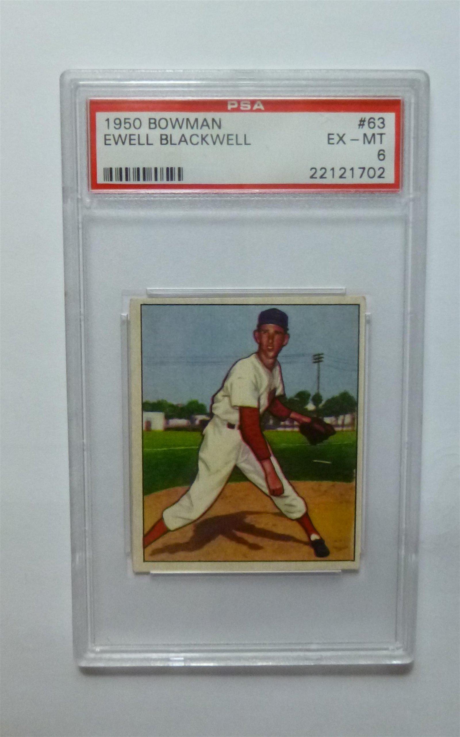 1950 Bowman #63 Ewell Blackwell PSA 6