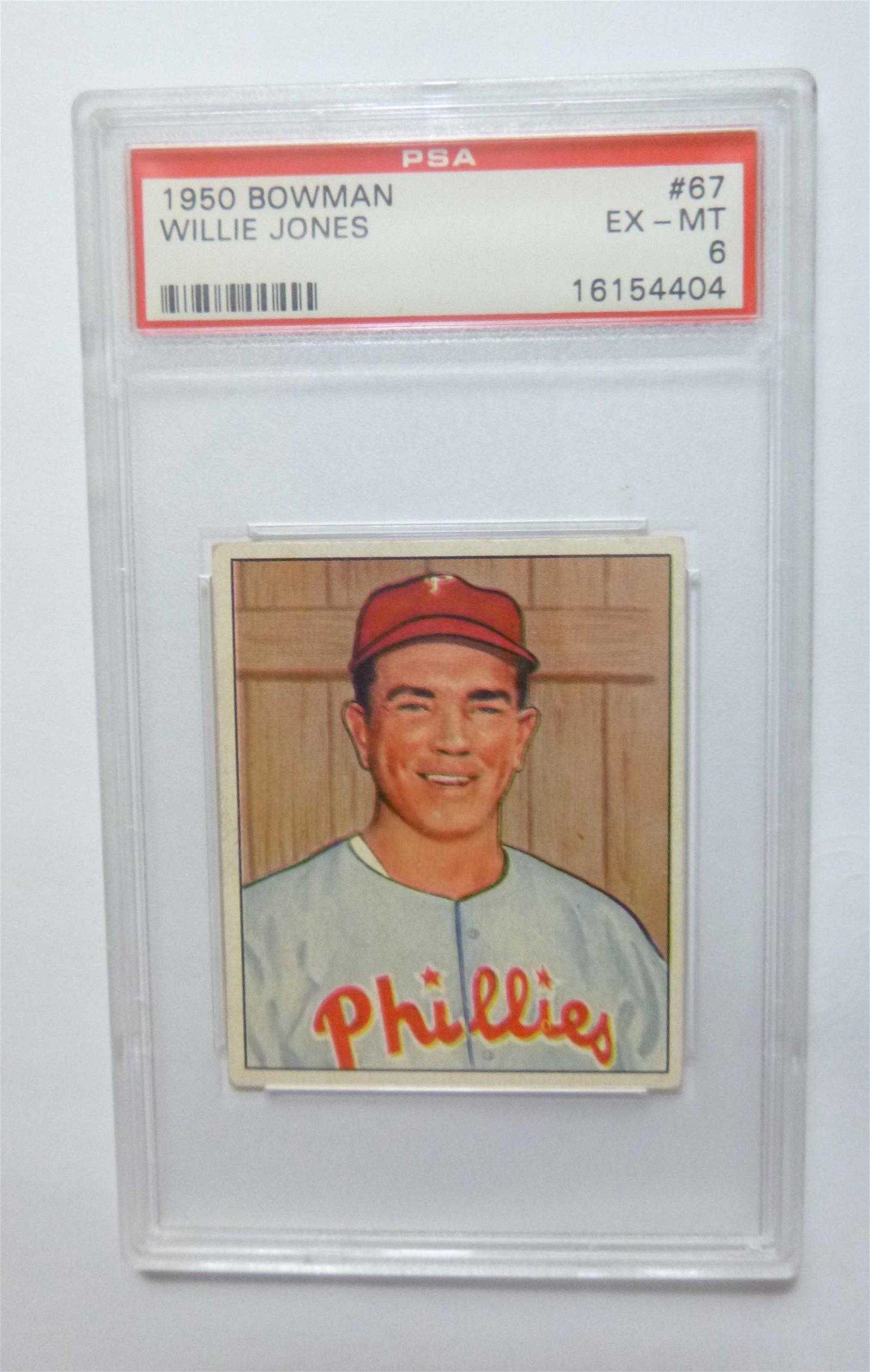 1950 Bowman #67 Willie Jones PSA 6