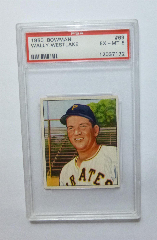 1950 Bowman #69 Wally Westlake PSA 6