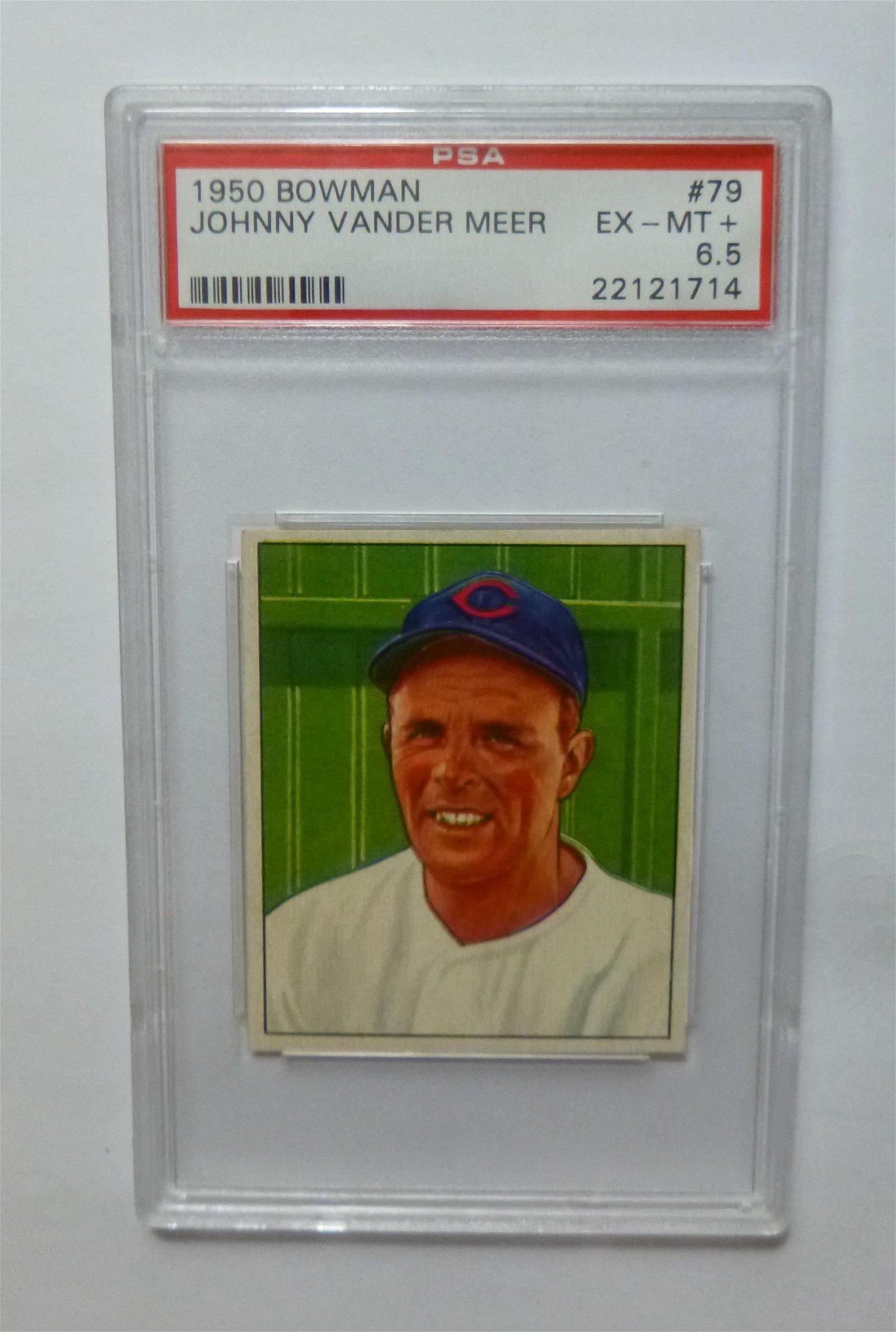 1950 Bowman #79  Johnny Vandermeer PSA 6.5