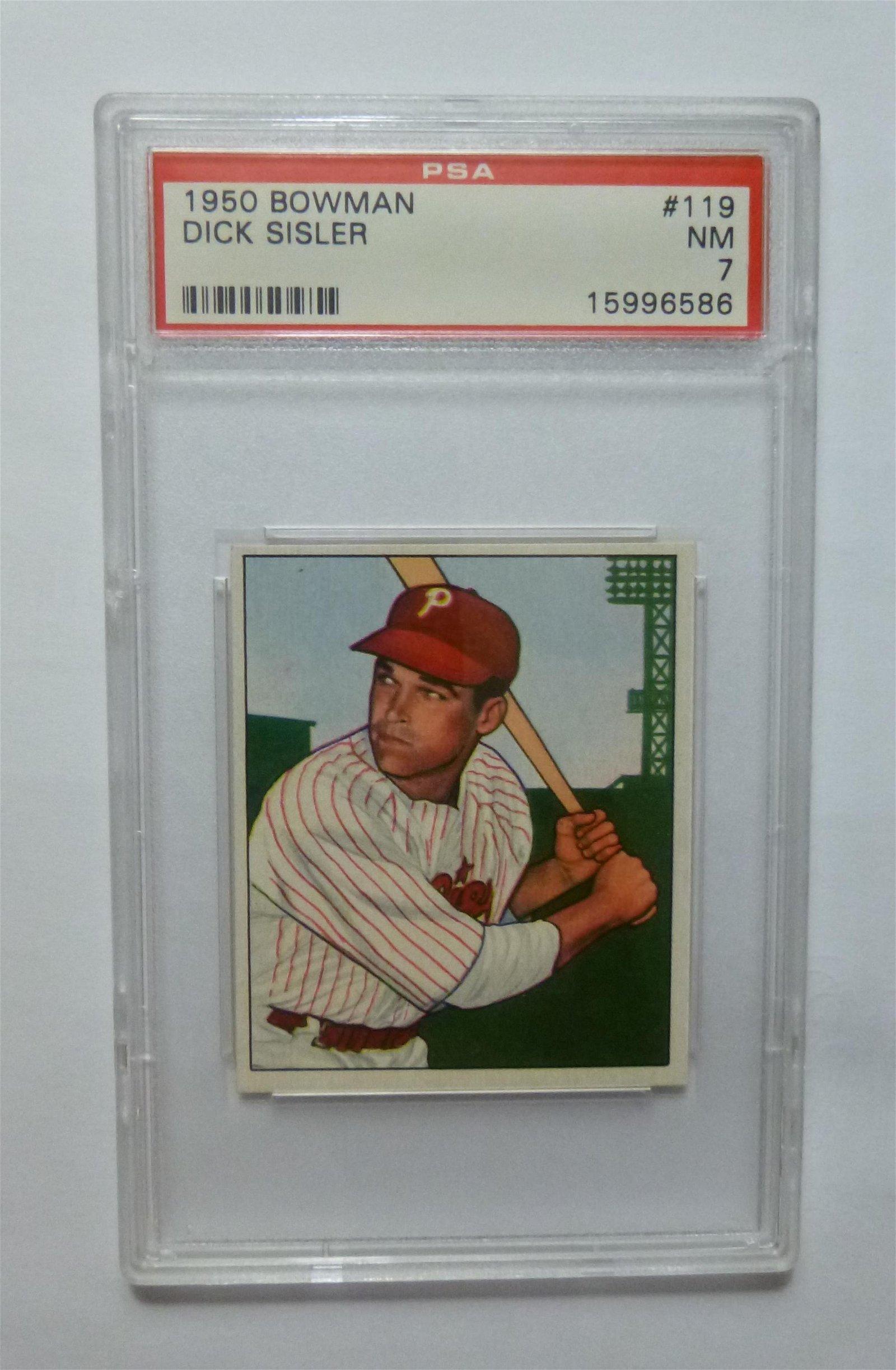 1950 Bowman #119 Dick Sisler PSA 7