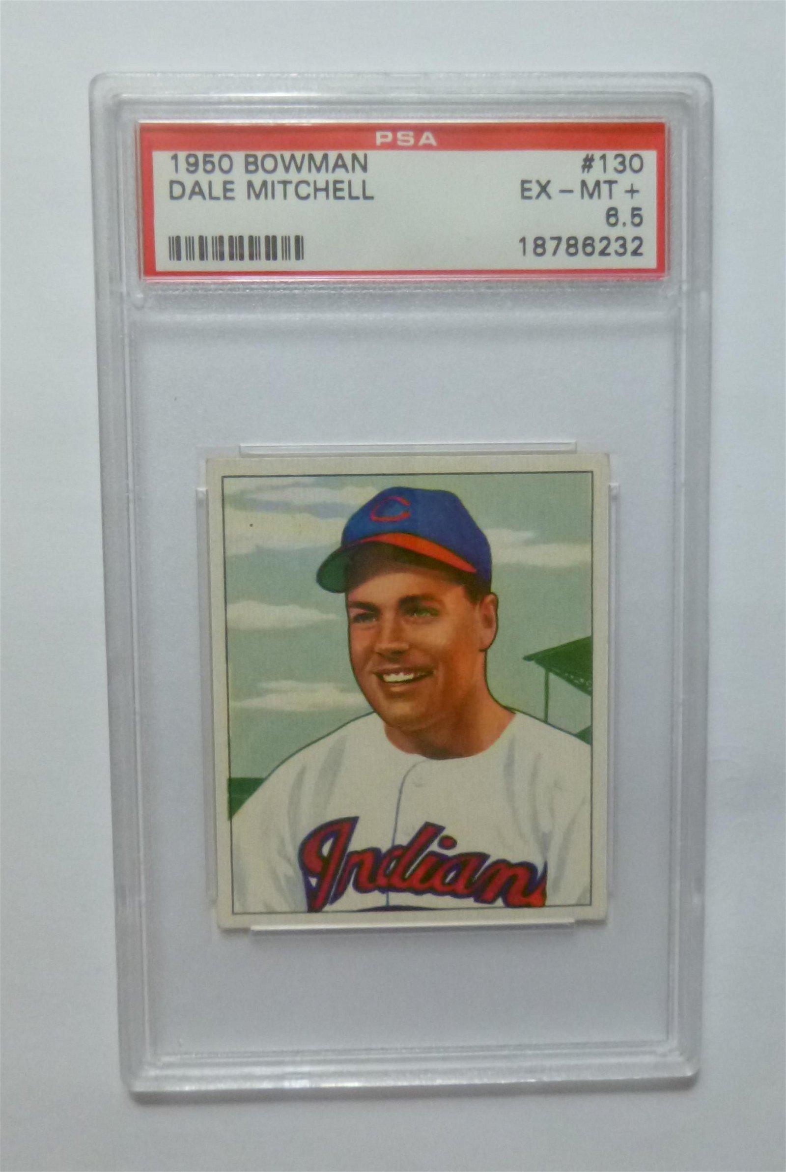 1950 Bowman #130 Dale Mitchell PSA 6.5