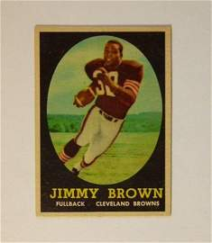 1958 Topps Football #62 Jim Brown Rookie Card