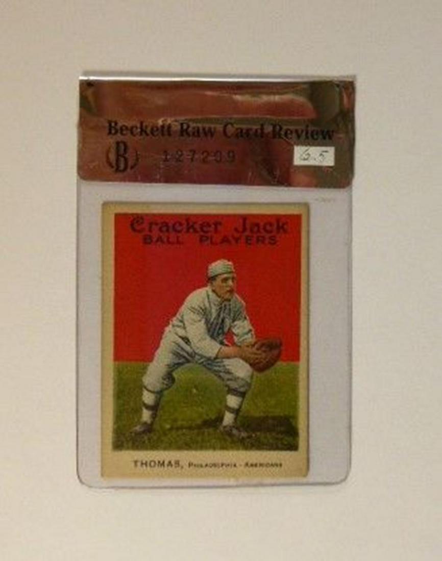 1915 Cracker Jack #34 Ira Thomas BGS Raw Grade 6.5