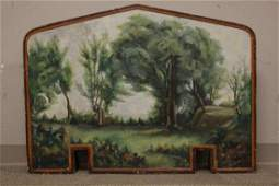 Artist Signed Oil Painted Fireplace Screen