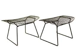 Pair of Harry Bertoia Bird Ottomans For Knoll