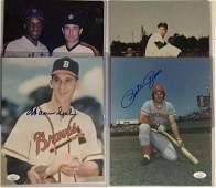 Baseball Legends Autographed 8x10 Photos w Rose Ryan