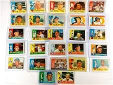 1960 Topps Baseball Card Lot(27) Yankees, Dodgers &