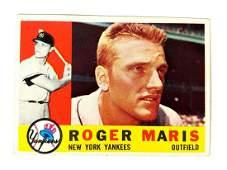1960 Topps Baseball #377 Roger Maris New York Yankees
