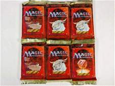 6 Magic The Gathering Unopened 4th Edition Packs