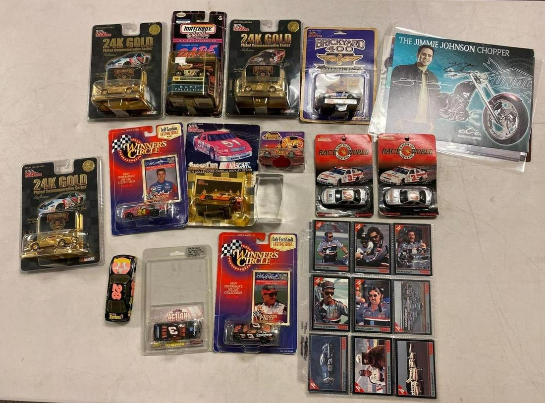 NASCAR Collection Die Cast Model Cars and Cards