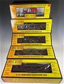 MTH Rail King O Gauge Coach Cars & Flat Car NIB