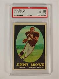 1958 Topps Football #62 Jim Brown Rookie PSA 6