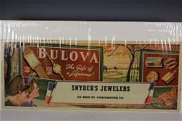 Vintage Bulova Watch Advertising