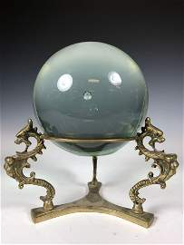 Crystal Ball On A Brass Dragon Stand