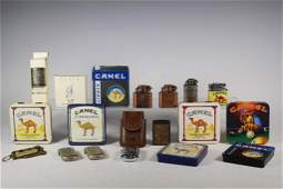 Large Collection of Camel Lighters & Tins