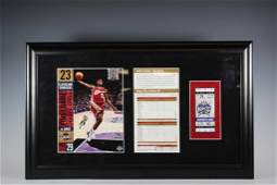 UDA Signed LeBron James First Game Photo LE