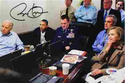 Barack Obama Signed War Room Photo PSA 10