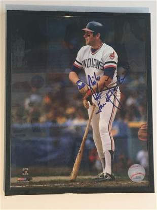 Mike Hargrove Nickname Signed 8x10 Photo Indians