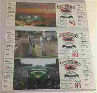 1993 Cleveland Indians Last Series Tickets