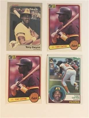 Tony Gwynn Rookie Baseball Card Lot (4)