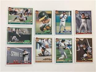 1991 Topps Pre-Production Sample Cards