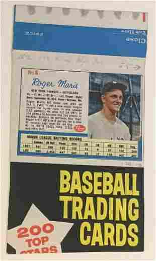 1962 Post Cereal Roger Maris Box Panel