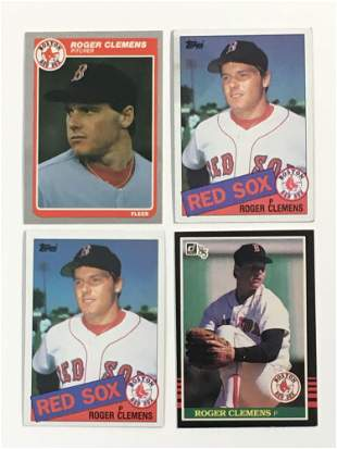Roger Clemens Rookie Card Lot(4)