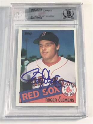Roger Clemens Autographed Rookie Card BGS