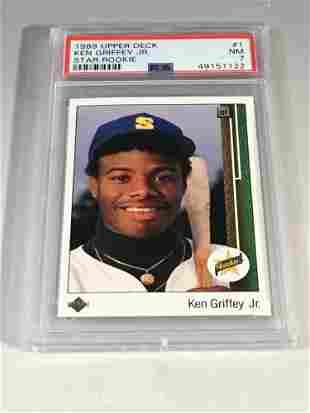 1989 Upper Deck #1 Ken Griffey Jr. Rookie PSA 7