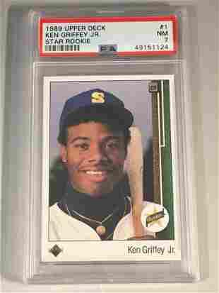 Ken Griffey Jr. 1989 Upper Deck Rookie PSA 7