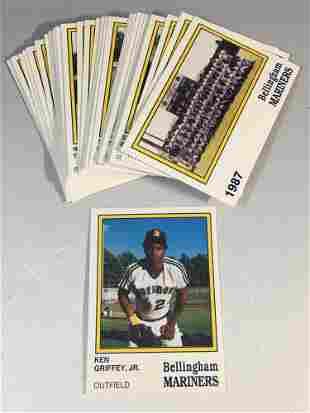 1987 Bellingham Mariners Team Set Ken Griffey Jr.
