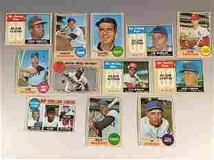 1968 Topps Baseball Card Stars and HOF'ers w/ Yaz