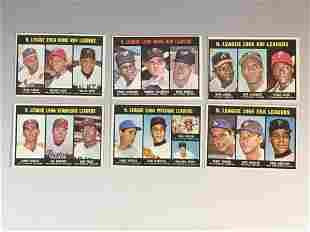 1967 Topps Baseball Leaders Cards w/ Aaron, Koufax