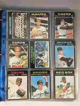 1971 Topps Baseball Card Lot w/ Munson, Blyleven +