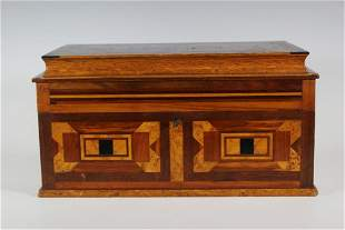 19th Century Lidded Marquetry Box