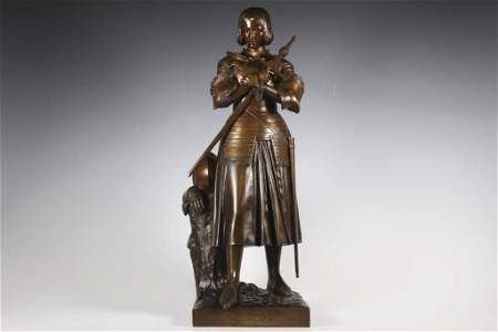 Fine Marie D'Orleans Bronze of Joan of Arc