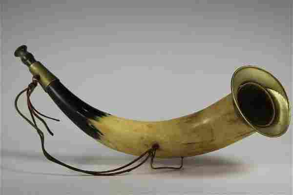 Antique Horn Fox Hunting Bugle