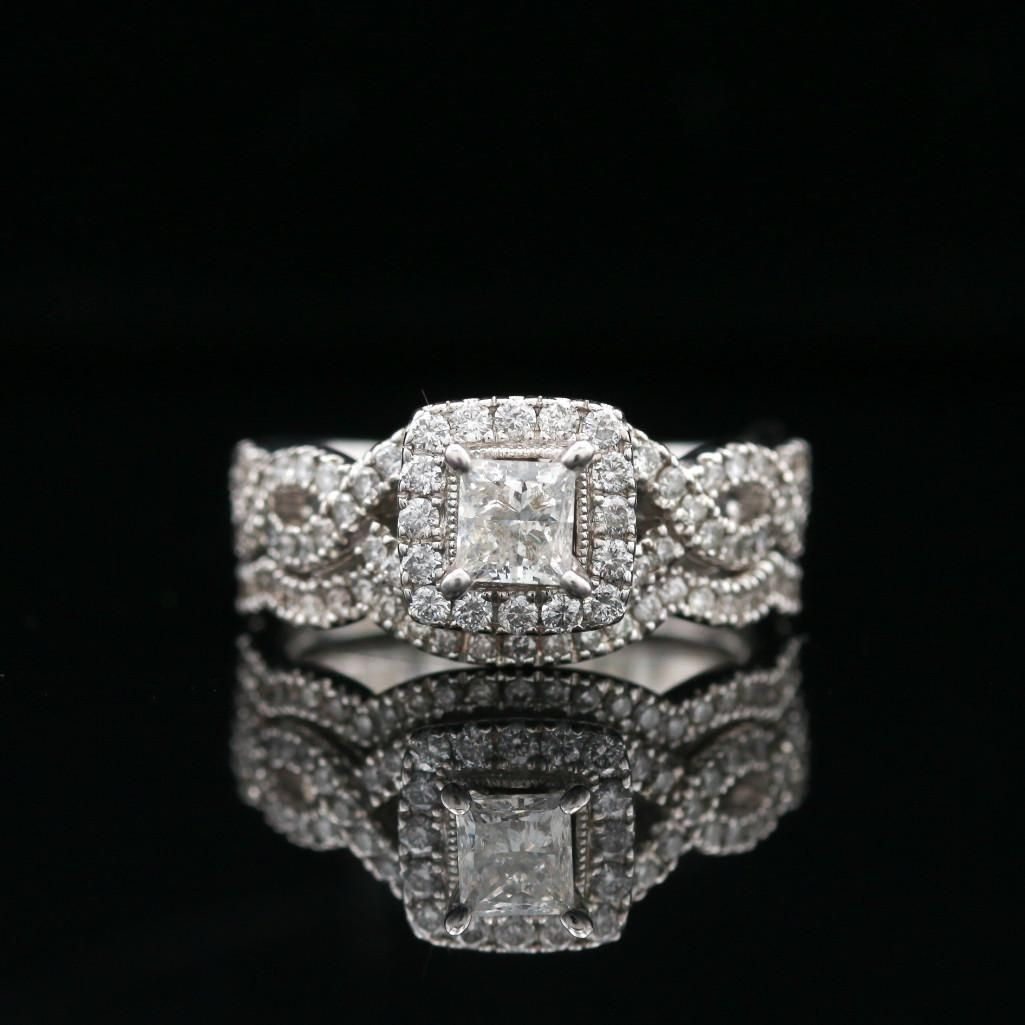 Neil Lane 14k White Gold Diamond Bridal Set