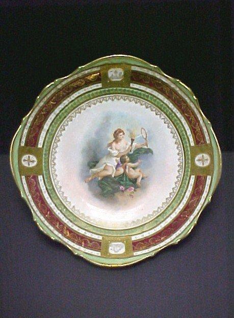 2: 9'' Austrian Porcelain Portrait Low Bowl