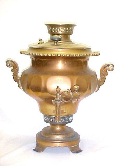 8: Brass Russian Samovar