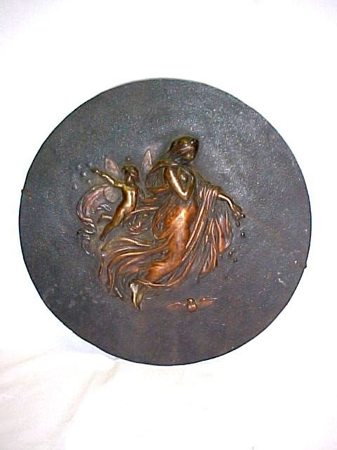 18: Figural Iron Relief Wall  Plaque