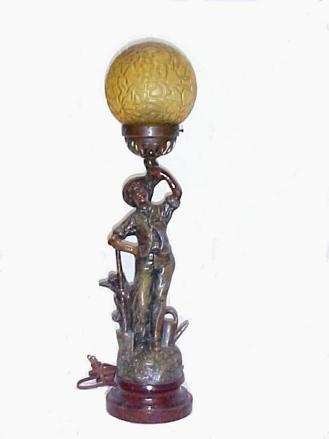 22: Figural Lamp of Young Man