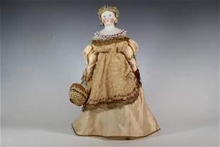 "18"" Dornheim, Koch & Fischer Parian Doll Circa 1871"