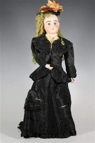 "20"" German Fashion Doll by Wilhelm Dehler Circa 1870's"